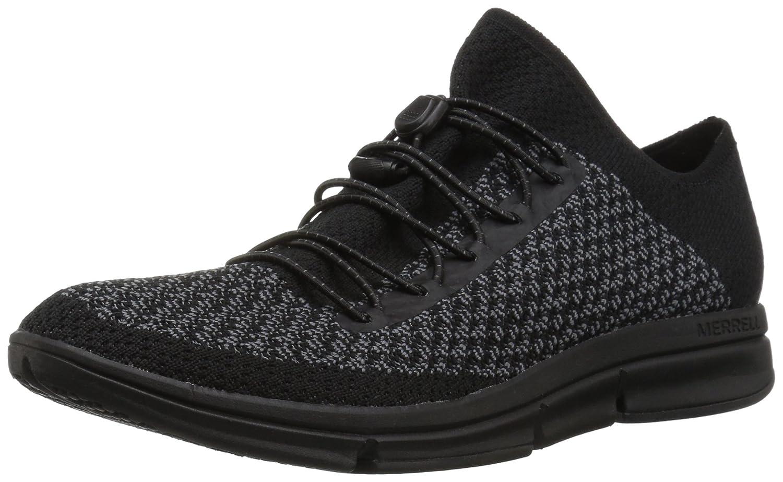 Merrell Women's Zoe Sojourn Lace Knit Q2 Sneaker B078NGX5LW 8.5 B(M) US|Black/Castlerock