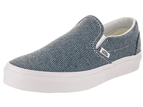 75b41e5cba Vans Mens U Clasic Slip ON Jersey Blue True White Size 11.5  Amazon ...