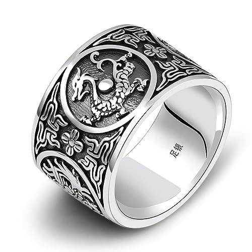 sito affidabile f2456 c3c45 Aooaz Gioielli anelli da uomo anello argento 925 Animale ...