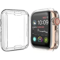 Julk Case for Apple Watch Series 4 Screen Protector 44mm, 2018 New iWatch Overall Protective Case TPU HD Clear Ultra…