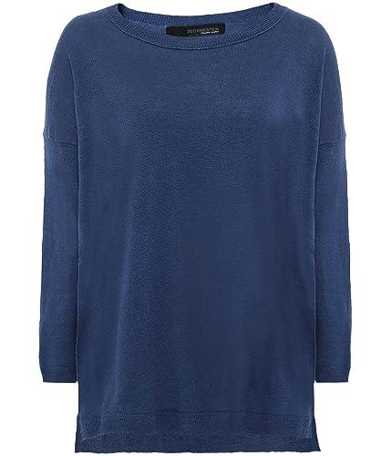 360 Sweater Mujeres puente nuevo estrellas aruna lino Denim Y Blanco S