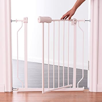 Amazon Com Costzon Baby Safety Gate Walk Through Gate With Easy