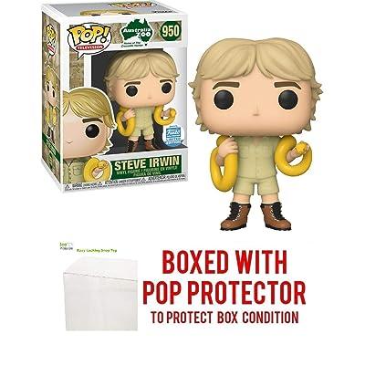 Pop TV: Steve Irwin The Crocodile Hunter Limited Edition w/Snake Pop Vinyl Figure (Includes EcoTEK Pop Protector Case): Toys & Games