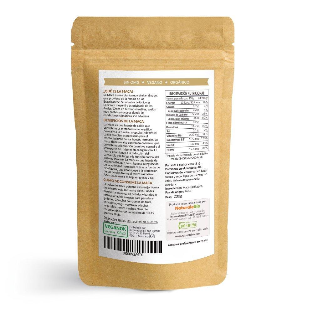 Maca Andina Ecológica en Polvo [ Gelatinizada ] 200g | Organic Maca Powder Gelatinized. 100% Peruana, Bio y Pura, extracto de raíz de Maca Organica. ...
