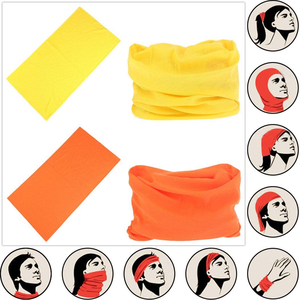 Headwear Head Wrap Sport Headband Sweatband 220 Patterns Magic Scarf 12PCS & 6PCS 12 in 1 By VANCROWN (12PCS.Solid Color) by VANCROWN (Image #1)