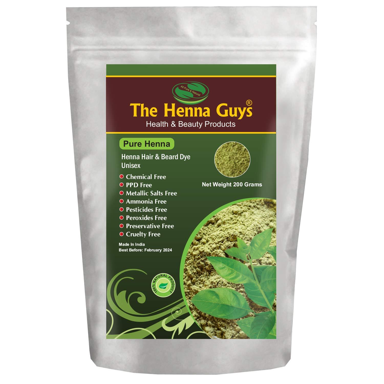 100% Pure Henna Powder For Hair Dye - Red Henna Hair Color, Best Red Henna For Hair - The Henna Guys (200g)