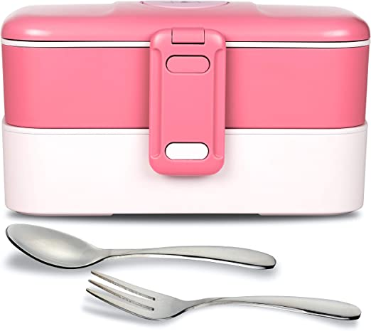 Leakproof Microwave /& Dishwasher Safe Blue FS Pro Lunch Box Container Bento Box with Cutlery for Kids Adults