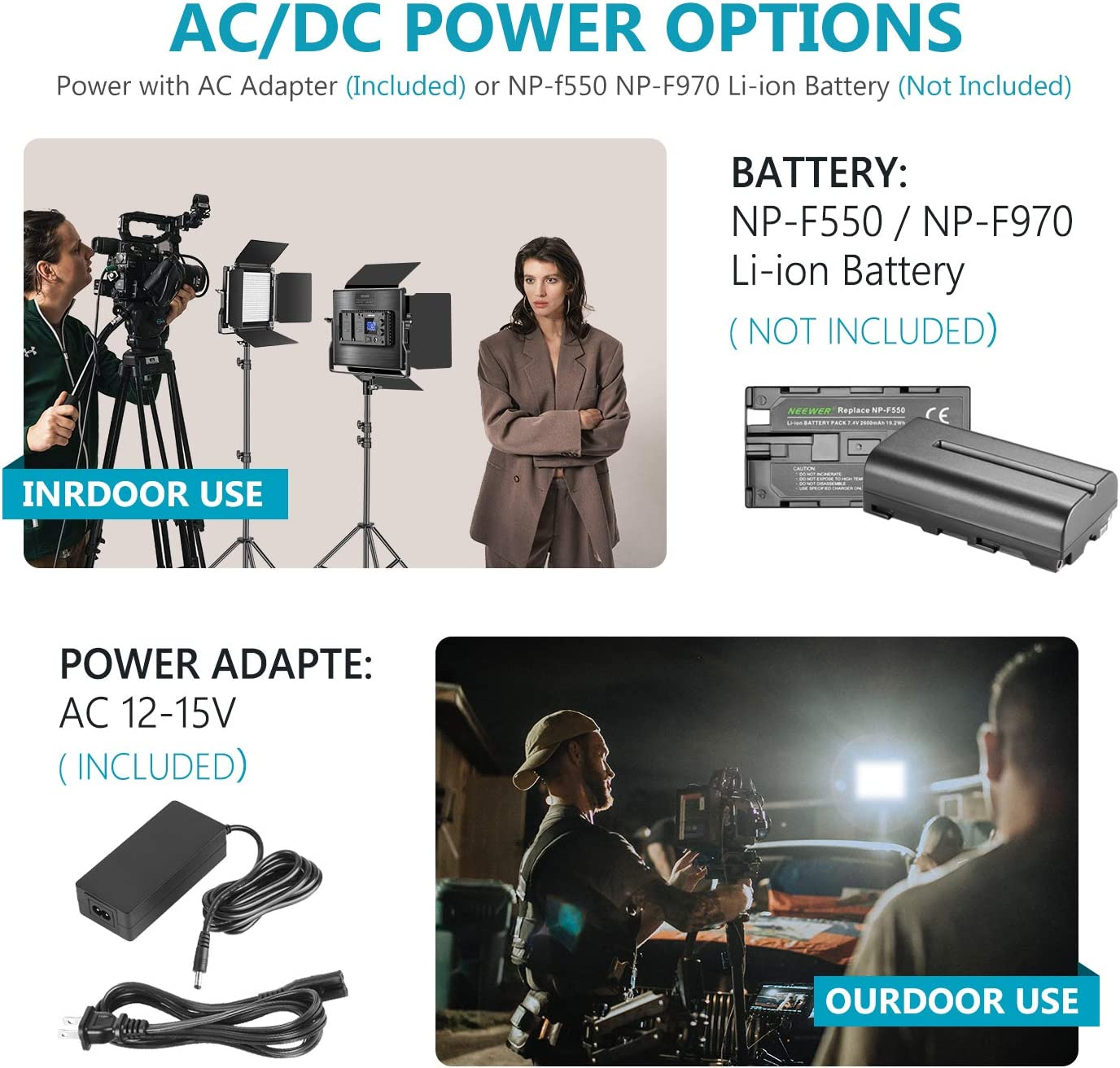 Dimmable Bi-Color LED Panel with 2.4G Wireless Remote LCD Screen and Light Stand for Portrait Product Photography Neewer 2 Packs Advanced 2.4G 660 LED Video Light Photography Lighting Kit with Bag