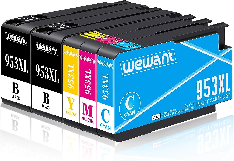 Wewant Cartucho de tinta 953XL Compatible para usar en lugar de HP ...