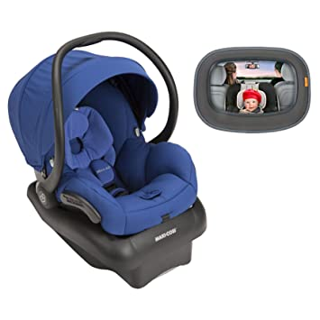 2015 Maxi Cosi Mico AP Infant Car Seat Blue Base With Baby In