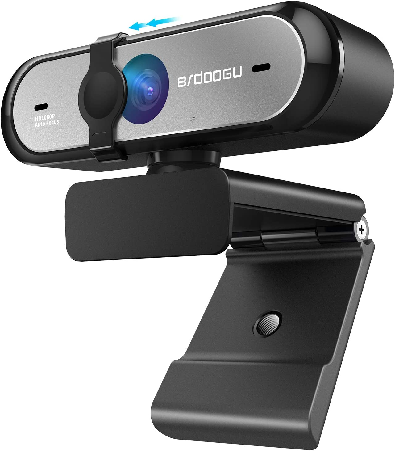 1080P 60FPS Webcam with Microphone, HD USB Web Camera, Built-in Dual Noise Reduction Mics, 90 Degrees Auto Focus for Zoom YouTube Skype FaceTime Hangouts PC Mac Laptop Desktop, Built-in Privacy Cover