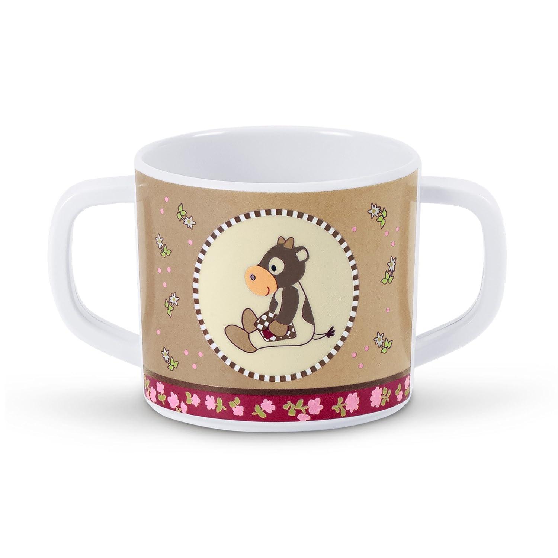 Sterntaler 6841403 Henkeltasse mit schönem Motiv Kuh Karlotta, Rutschfestes Unterteil