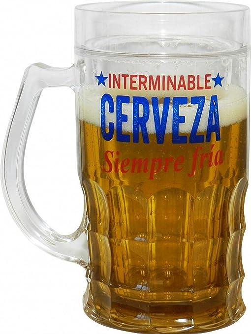 Blue Sky JARRA DE CERVEZA ENFRIADORA INTERMINABLE FRIA HELADA ...