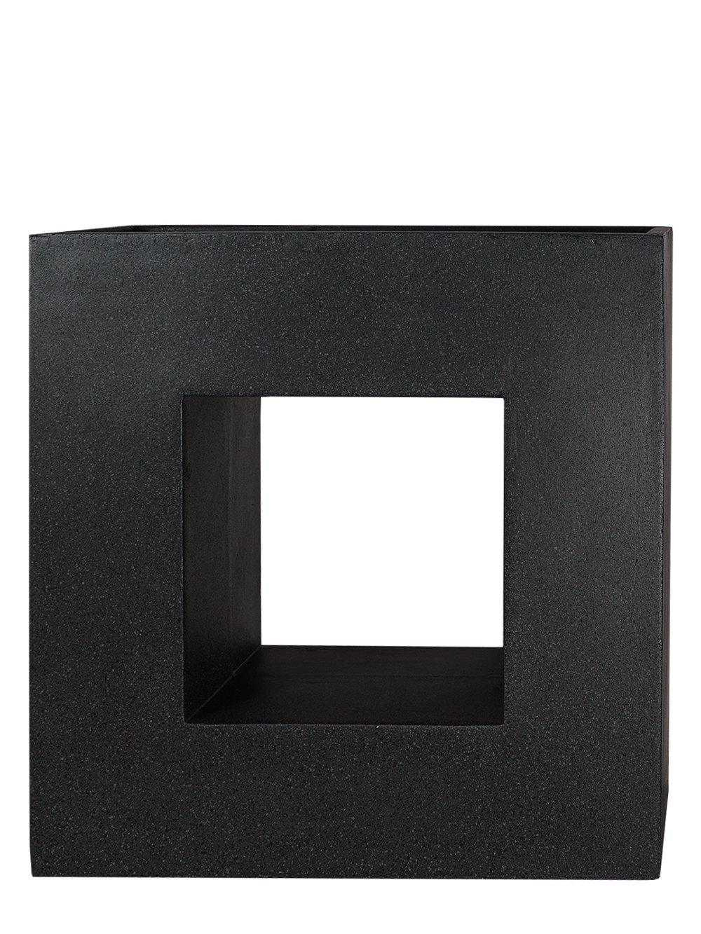 PFLANZWERK® Pflanzkübel Fiberglas VISTA Granit Anthrazit 69x68x29cm ...