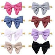 Baby Girl Headbands and Bows,Hair Accessories Soft Nylon Headbands for Newborn Infant Toddlers Kids