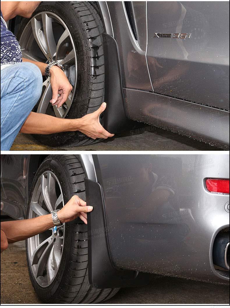 FidgetKute 4Pcs Splash Guards Mud Flaps for 14-18 BMW X5 M Sport F15 Witout Pedal