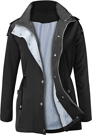 Long Cardigan Sweaters for Women Knit,Womens Lightweight Raincoat Hooded Button Waterproof Active Outdoor Jacket