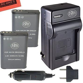 Amazon BM Premium 2 Pack of EN EL23 Batteries and Battery