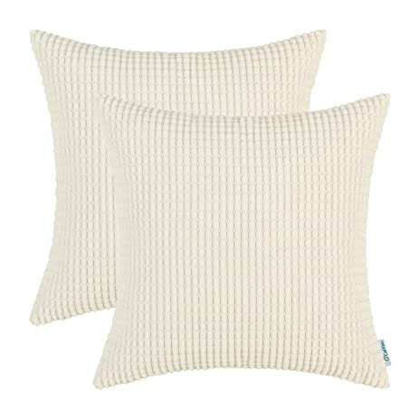pack of 2 calitime throw pillow covers cases for couch sofa bed comfortable supersoft