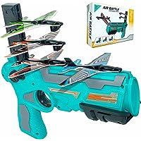 أحدث لعبة طائرة إطلاق الفقاعات بنقرة واحدة، مع 4 قطع من الكرسي الهزاز قاذفة الطائرات، أفضل لعبة رياضية في الهواء الطلق…