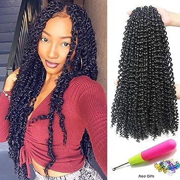 18 Inch Passion Twist Crochet Hair 6 Packslot Water Wave Crochet Braiding Hair Long Bohemian Hair For