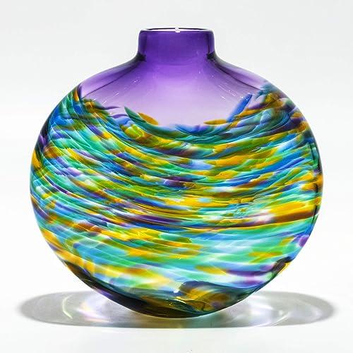 Amazon Large Flat Vortex Vase Tiffany Handmade