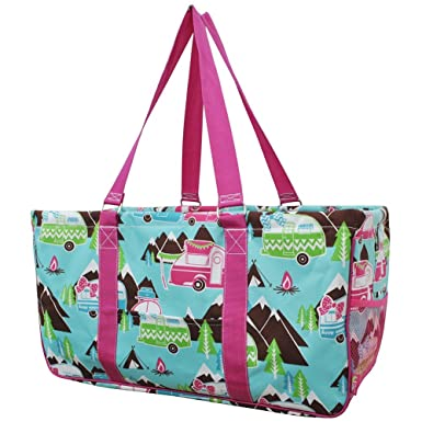 c7040247d663 Image Unavailable. Image not available for. Color  Happy Camper Print NGIL  Utility Tote Shopping Bag