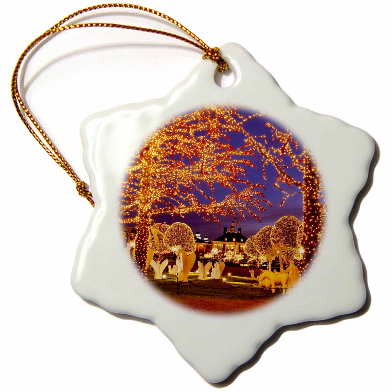 3dRose orn_146534_1 Christmas, Opryland Hotel, Nashville, Tennessee Usa-Us43 Bjn0047-Brian Jannsen-Snowflake Ornament, 3-Inch, Porcelain