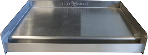 Little Griddle SQ180 Universal Griddle for BBQ Grills, Stainless (Formerly the Sizzle-Q