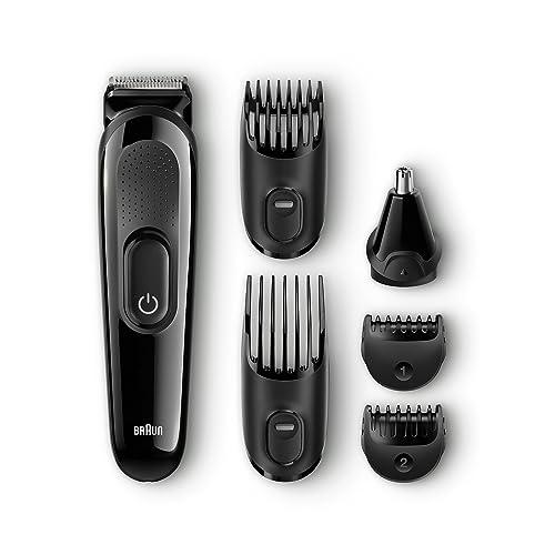 Braun MGK3020 6-in-1 Multi Grooming Kit, Beard and Hair Trimmer, Black