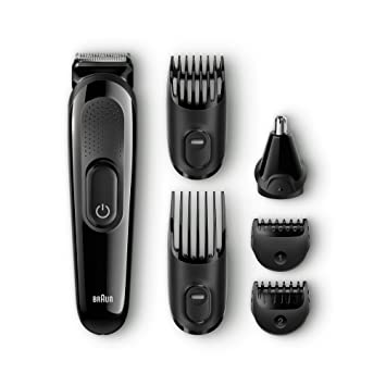 Braun MGK3020 6 In 1 Multi Grooming Kit, Rechargeable Beard And Hair Trimmer