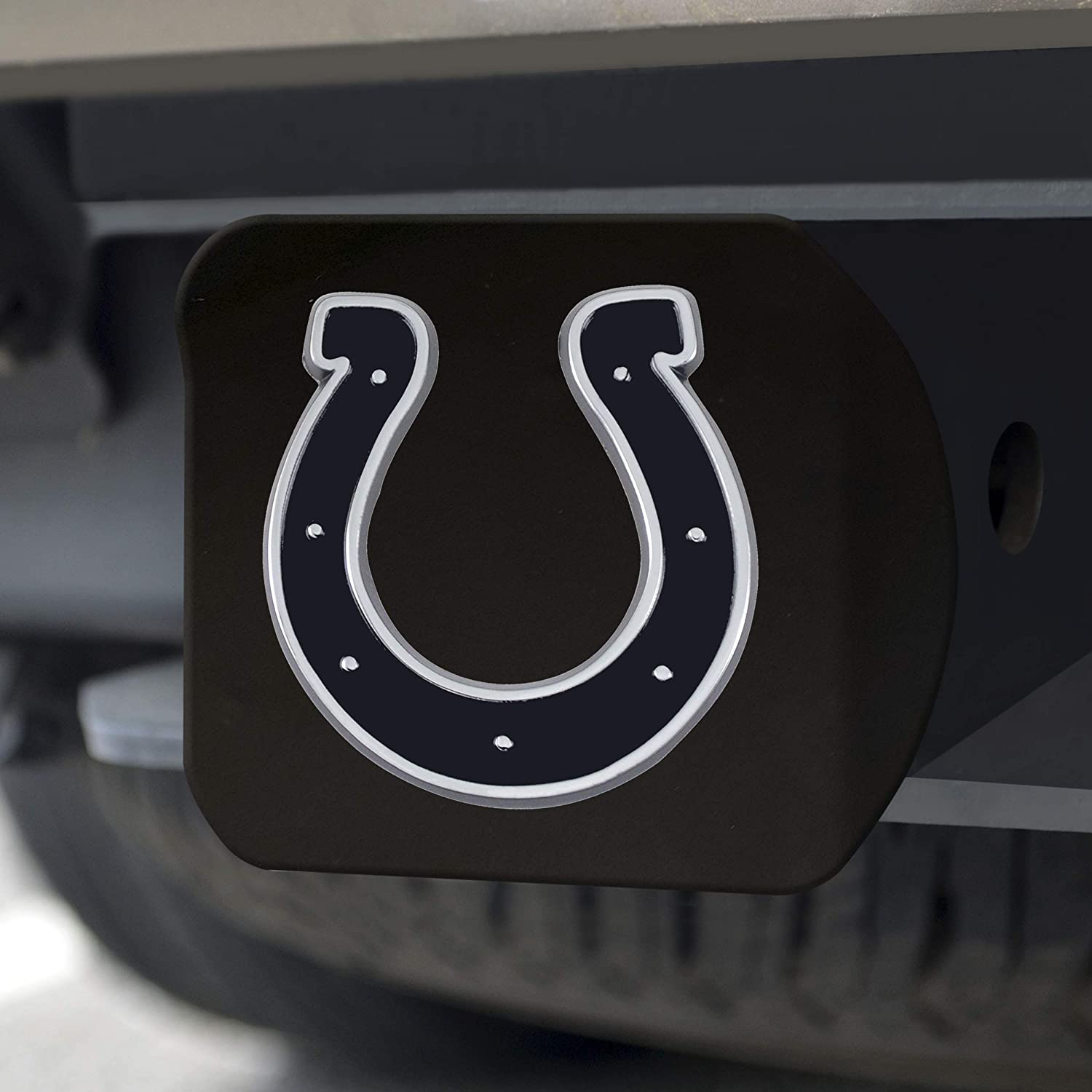 FANMATS 21536 NFL Indianapolis Colts Black 2 Square Type III Metal Hitch Cover with 3D Chrome Emblem