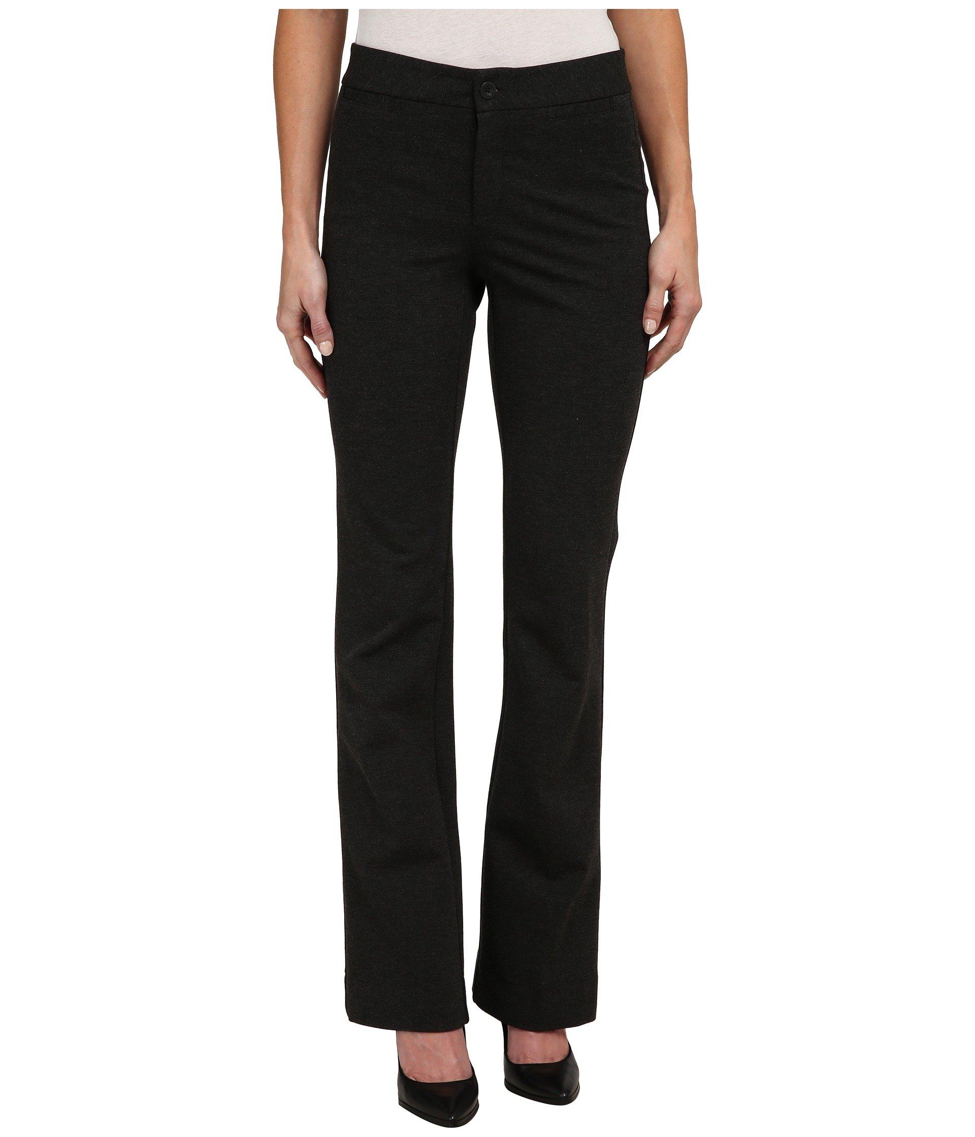 NYDJ Women's Michelle Ponte Trouser Charcoal Pants 8 X 33