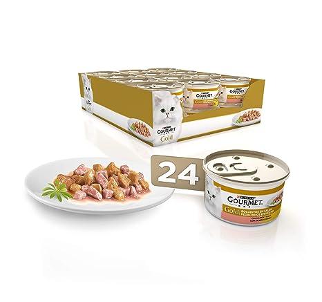Purina Gourmet Gold Bocaditos en Salsa comida para gatos con Salmon y Pollo 24 x 85