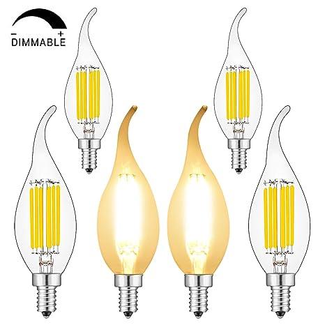 Amazon.com: BRIMAX - Bombilla LED de candelabro de 6 W ...