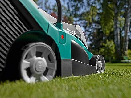 Bosch Rotak 430 LI - Cortacésped con Batería, 2 Baterías, Cesta Colectora de 50 L, Cargador, Caja de Cartón, 36 V, Anchura/Altura de Corte 43 cm/2-7 ...