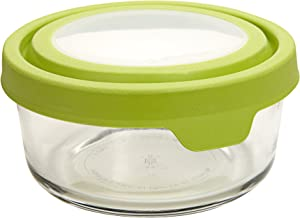 Anchor Hocking Trueseal Glass Food Storage Containers Airtight Lids, 2 Cup, Green (Pack of 6) - 91687AMZ