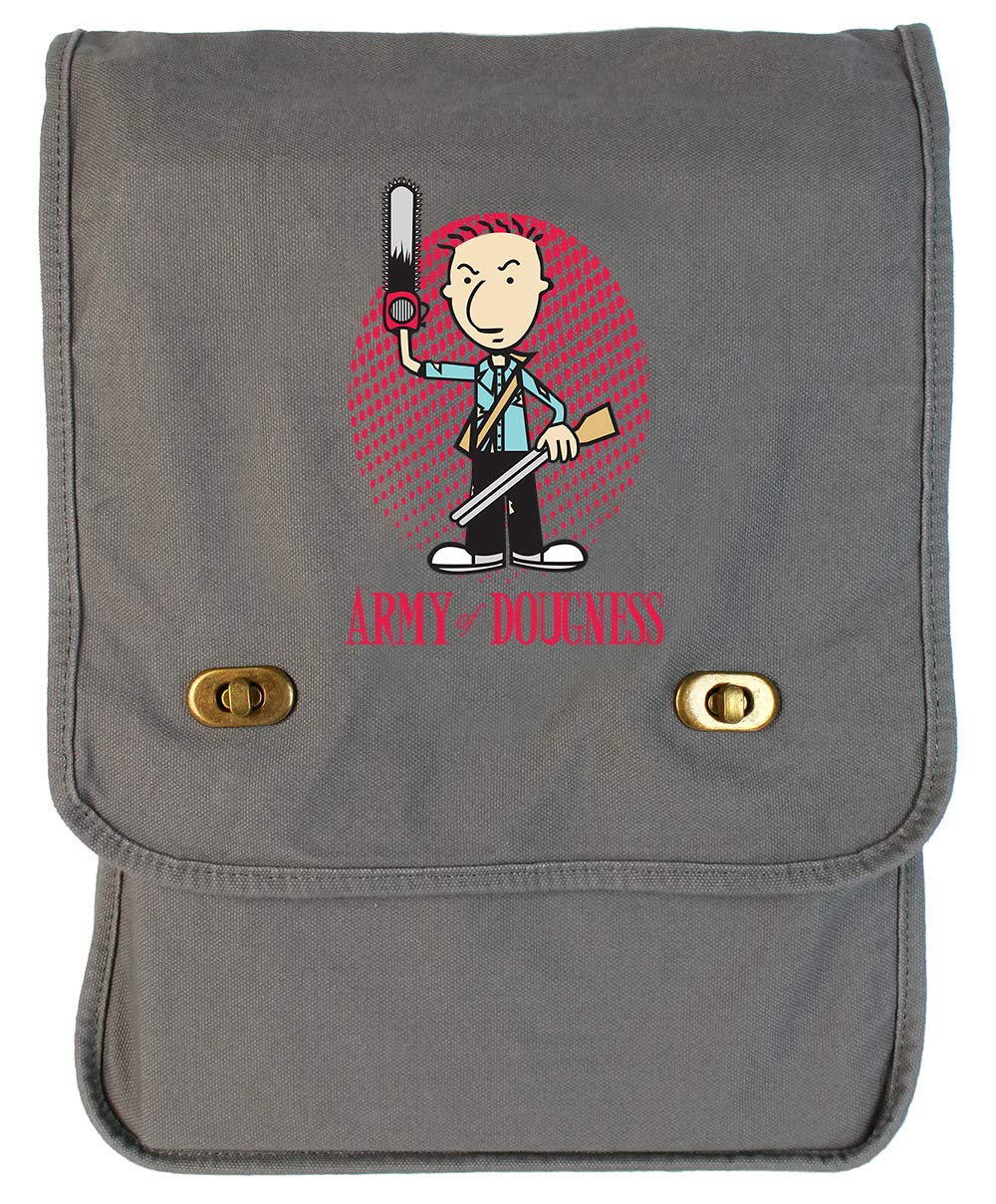 Tenacitee Army of Dougness Red Brushed Canvas Messenger Bag