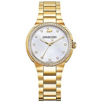 Swarovski Reloj analogico para Mujer de Cuarzo con Correa en Acero Inoxidable 5221172: Amazon.es: Relojes