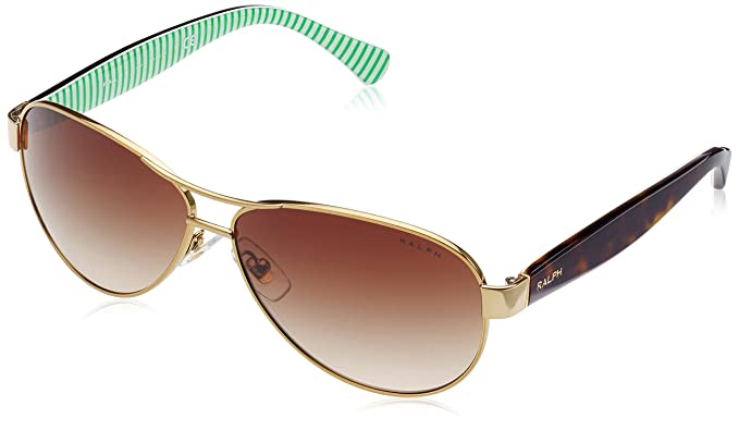 Ralph Ra4096, Gafas de Sol para Mujer, Gold/Cream, 59
