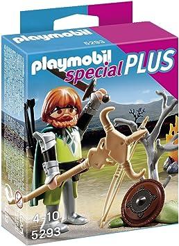 PLAYMOBIL Especiales Plus - Guerrero Celta con fogata (5293): Amazon.es: Juguetes y juegos