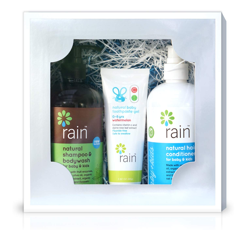 144e935fb798 Amazon.com : Baby Bath Hygiene Gift Basket Set - Natural Organic Shampoo  Body Wash Soap, Conditioner & Fluoride-Free Vitamin C Toothpaste for Mom  Infant ...