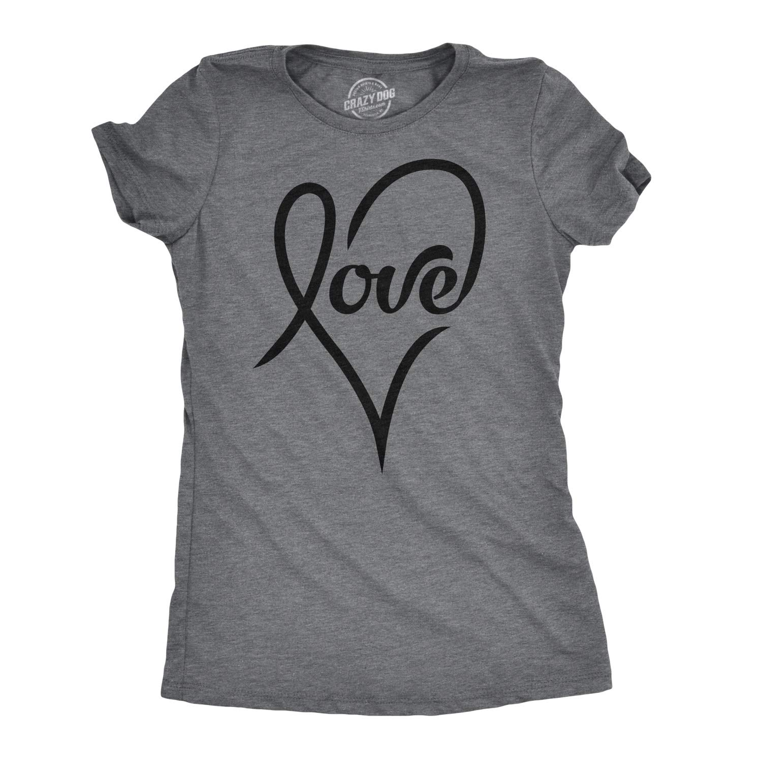 100% satisfaction guarantee purchase genuine new high quality Womens Love Cursive Heart Design Cute Stylish T Shirt