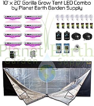 10x20 Gorilla Grow Tent Kit 1000w KIND LED XL1000 Package #2  sc 1 st  Amazon.com & Amazon.com : 10x20 Gorilla Grow Tent Kit 1000w KIND LED XL1000 ...