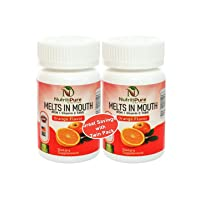 Chewable Iron Supplement (Carbonyl Iron 18 mg with Vitamin C 30 mg) Tablet in Orange Flavor 90 Count x 2 Bottles (Twin Pack)
