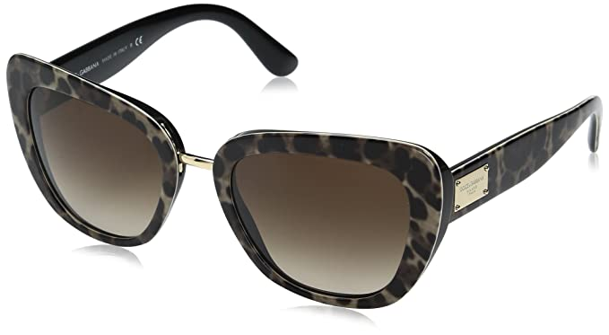 ca683f42b7c212 DOLCE   GABBANA Women s 0DG4296 199513 53 Sunglasses, Leoprint Browngradient
