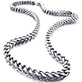 INBLUE Men's 6mm Wide Stainless Steel Necklace...