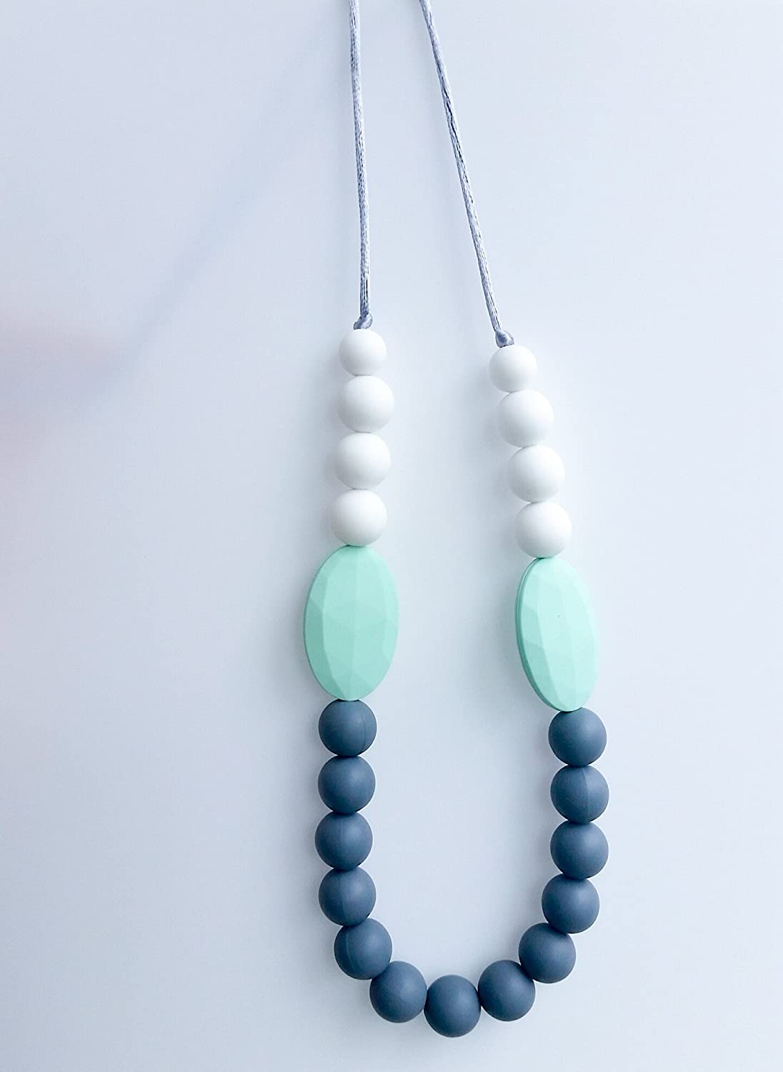 Geometric Silicone Teething and Nursing Necklace