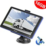 Xgody 886 7 Inch Capacitive Touchscreen SAT NAV Truck Lorry GPS Navigation System 16GB (8GB ROM + 8GB TF Card ) Navigator with FM MP3 Lifetime Maps Update with Sun Shade (886F+TF)