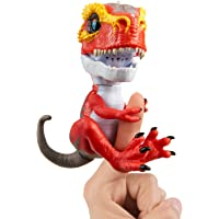 WowWee Untamed T-Rex by Fingerlings - Dinosaurio Interactivo Coleccionable, T-Rex-Ripsaw (Rojo)